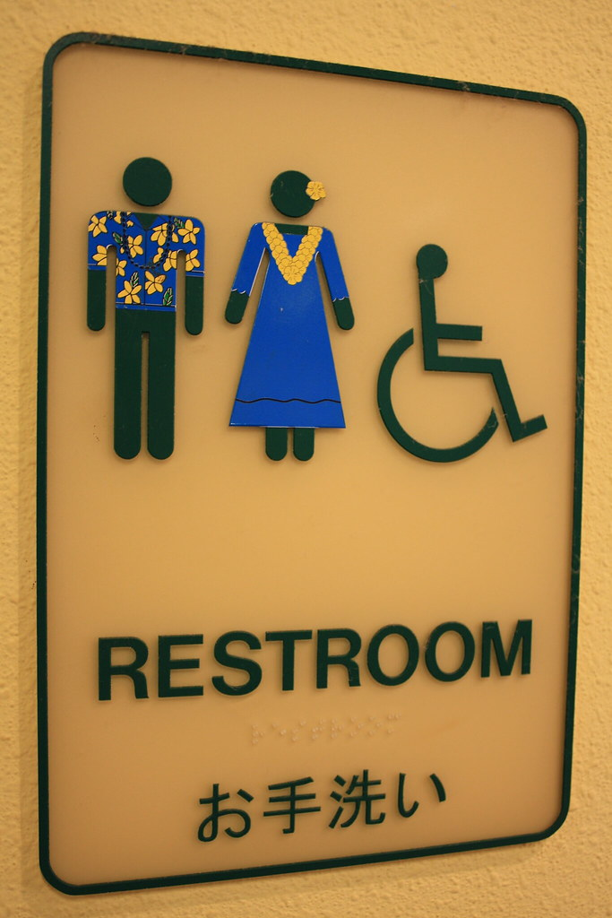 even the restroom signs wear ugly hawaiian shirts houston marsh rh flickr com