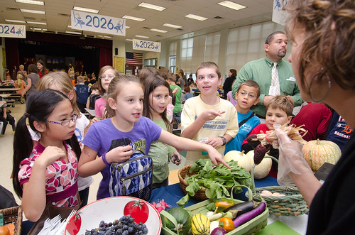 A National School Lunch Week event at Nottingham Elementary School