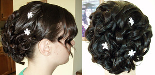 wedding-updo-messy-hairstyle | by vanmobilehair
