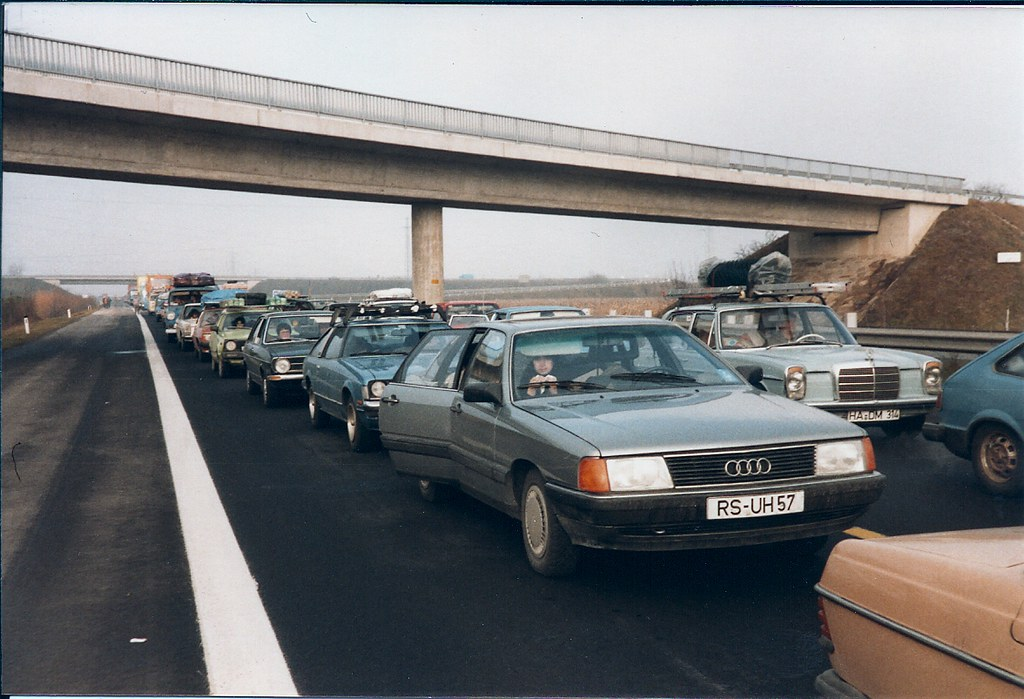 Audi 100 Cc Approx 1984 On The Autoput In Ex Yugoslavia