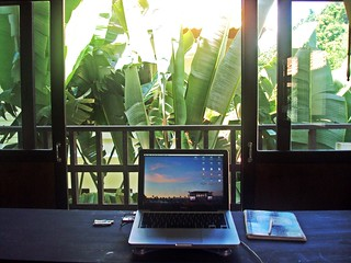 my home office on the 2nd floor of our townhouse on the outskirts of Krabi, Thailand | by Cody McKibben