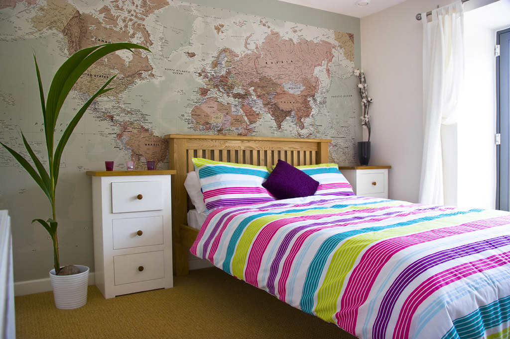 World Map Wallpaper Bedroom Executive