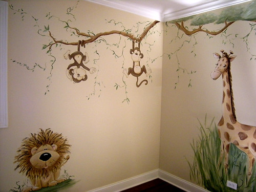 Whimsical Jungle Nursery Mural This Is A Whimsical