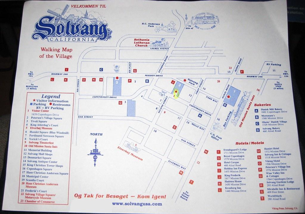 The Walking Map Of Solvang, CA | (September 20, 2011 ...
