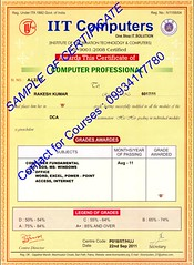 computer course certificate format