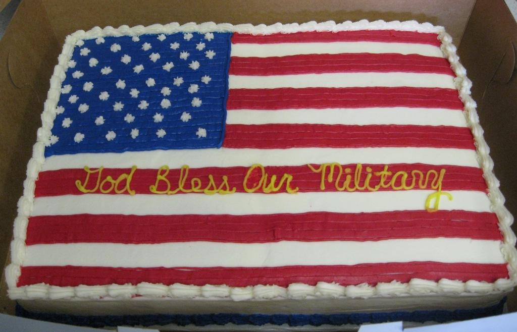 Usa Flag Birthday Cake