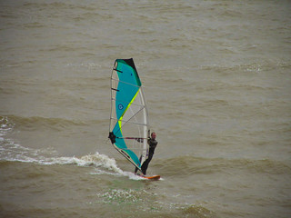 Sailboarding at Chilton Chine | by garryknight
