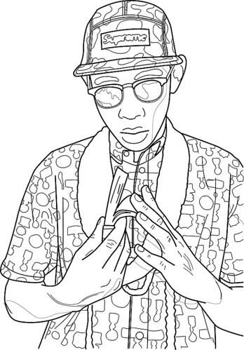 Tyler, The Creator/Contour Drawing/Illustrator/Bamboo Pad ...