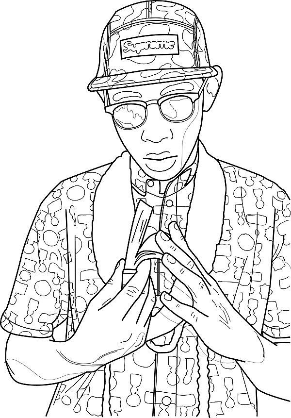 Tyler The Creator Contour Drawing Illustrator Bamboo Pad