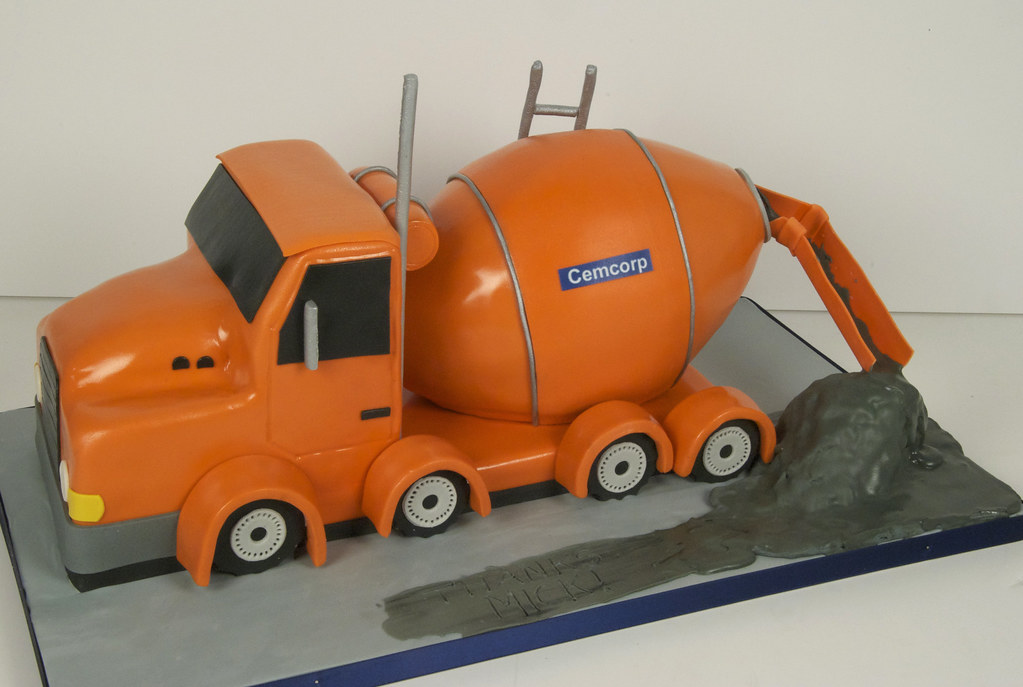 Cement Truck Cake Toronto A 3d Cement Truck Cake For The B Flickr
