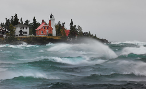 """September Gale""  Eagle Harbor Lighthouse - Eagle Harbor , Michigan 