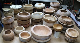 52 rough turned bowls | by Stephen Mildenhall