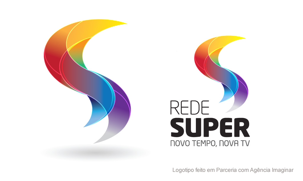 rede super logotipo logotipo feito para ag234ncia imaginar