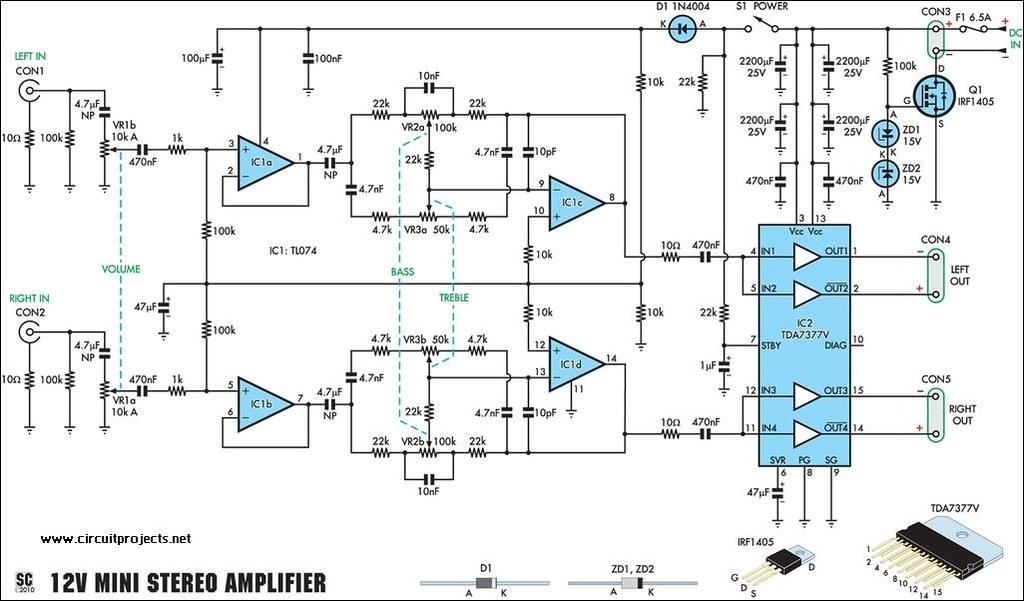 12v 20watt Stereo Amplifier Circuit Diagram Circuitprojects Flickr