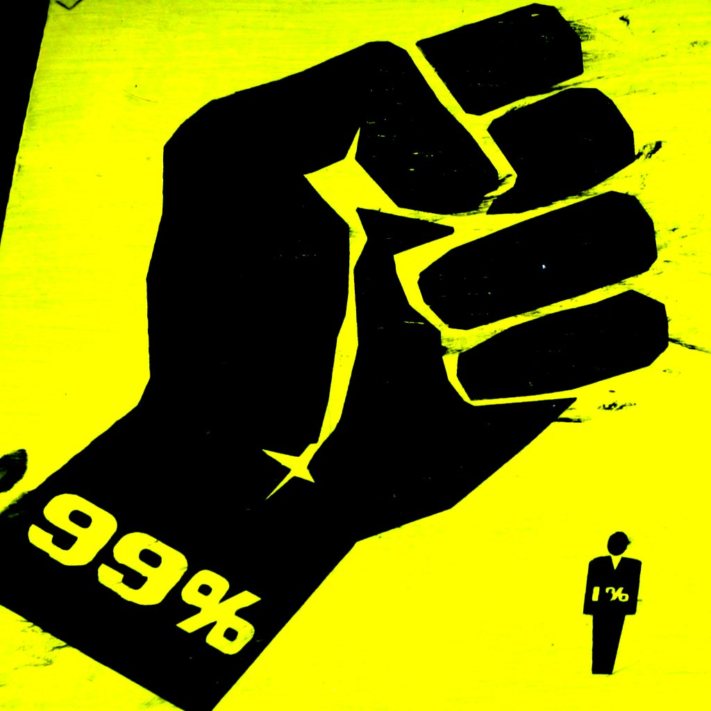 99% over 1% | Occupy Wall St. I am here. This week in New yo… | Flickr