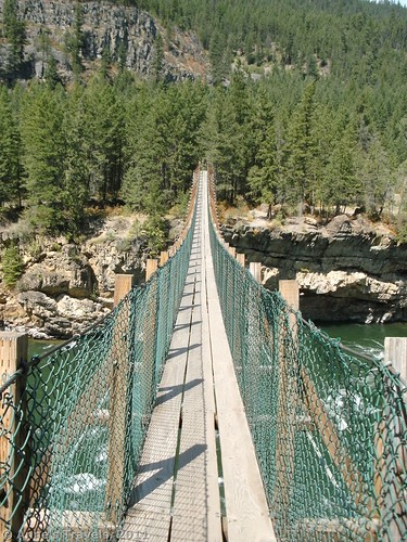 Swing bridge at Kootenai County Park, Montana