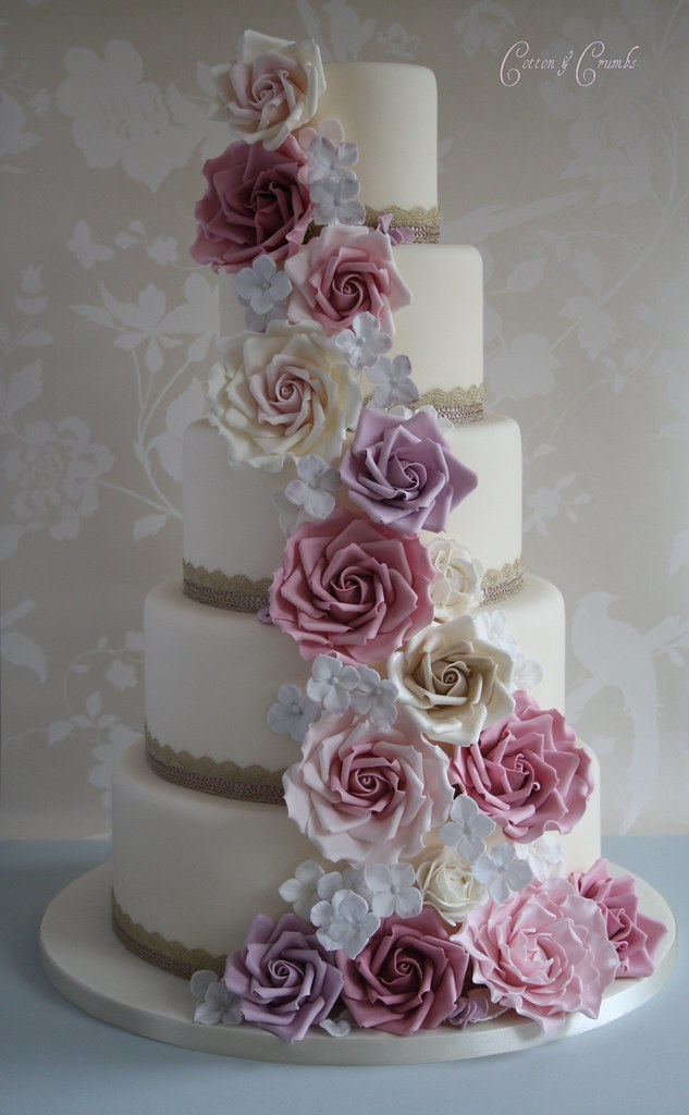cascading roses wedding cake vintage cascade wedding cake tracy flickr 12431