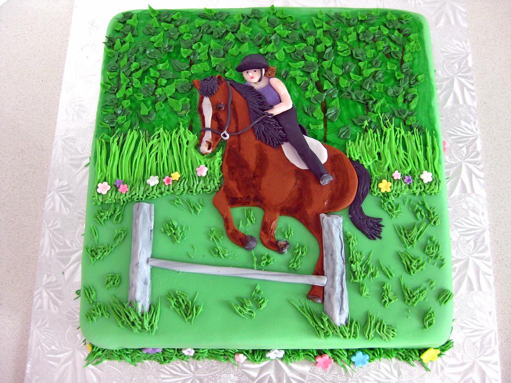 Horseback Riding Cake Reproduction Of A Favorite Photo