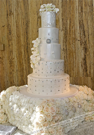 wedding cakes with crystals crystals and orchids wedding cake christine pereira flickr 26009