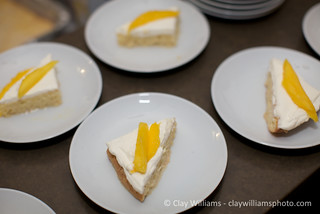 Dessert: Tres Leches with Mango | by Emily Cavalier