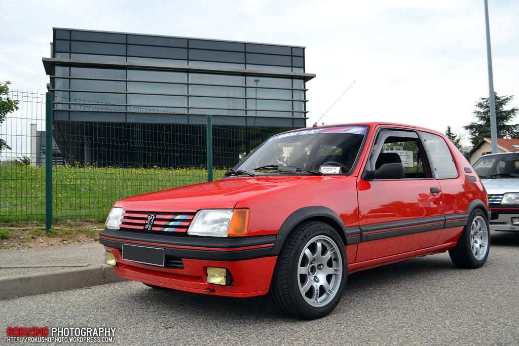 peugeot 205 gti phase 1 rouge vallelunga pts speedline sl4 rokusho09 flickr. Black Bedroom Furniture Sets. Home Design Ideas