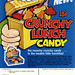 Topps - Crunchy Lunch Candy - 15-cent display box - sell sheet - 1970's