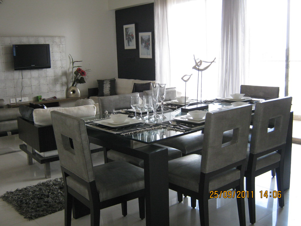 Dining Cum Living Of A 3 Bhk Sample Flat In Tower 1 At Par