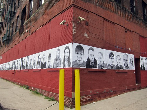DUMBO Arts Festival 2011: JR Inside Out Project building wrap | by Scoboco