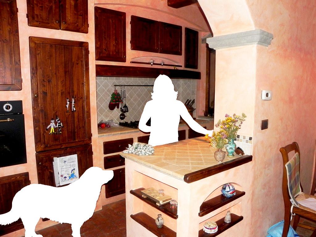 Cucina in muratura | Struttura cucina completa, ante e rifin ...