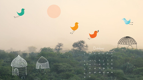 October desktop | by Geninne