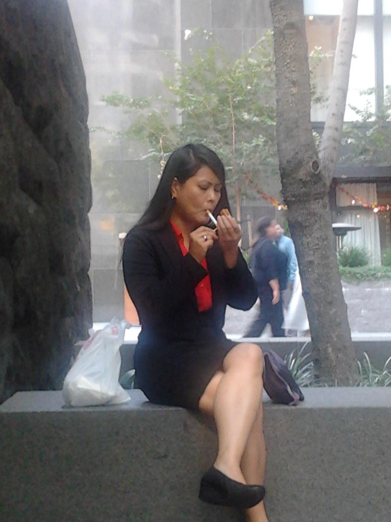 Black looks latino smoking fetish