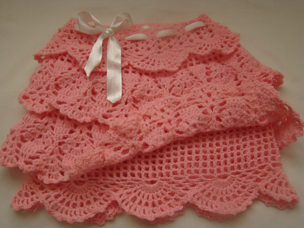 Crochet Pink Skirt hanmade crochet skirt for girls ...