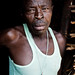 Dipslaced man at the doorstep of his hut - DR CONGO -