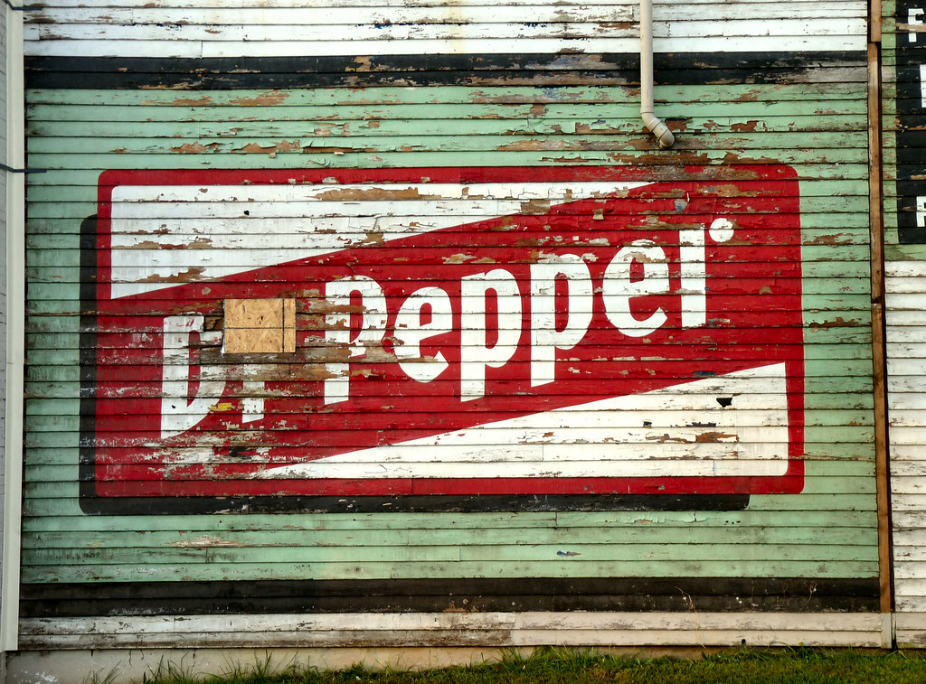 Dr Pepper wall mural ad on old CM Grocery in Lynchburg Flickr