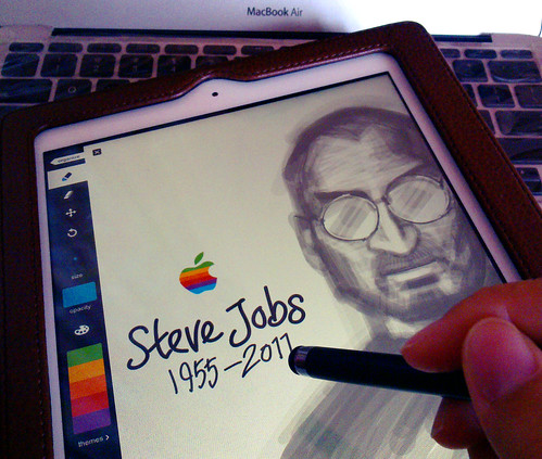 Tribute to Steve Jobs : Drawing Steve on iPad 2 | by Liyin Yeo of Liyin Creative Studio