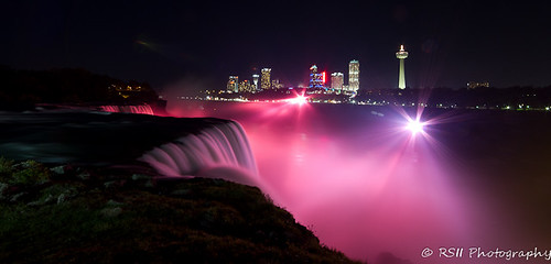 Niagara Falls Breast Cancer Awareness tribute - [Explored 10/10/11 - #33] | by RSII Photography