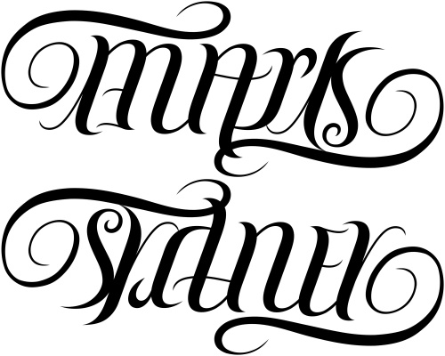 mark sydney ambigram a custom ambigram of the names flickr. Black Bedroom Furniture Sets. Home Design Ideas