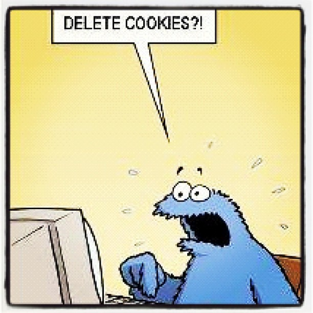 """Cookie Monster """"Delete Cookies - 117.9KB"""