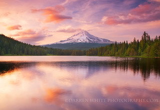Trillium Lake Pastels | by Darren White Photography