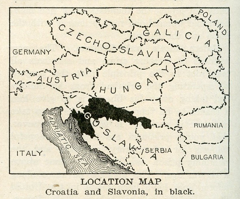 Location Map Croatia and Slavonia 1920 I dont think I Flickr