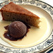 buckwheat cake and chocolate ice cream