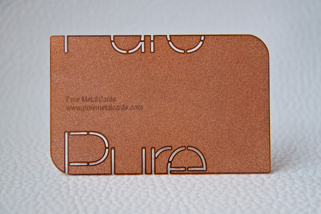 Copper Metal Business Card | Copper metal business card by P… | Flickr