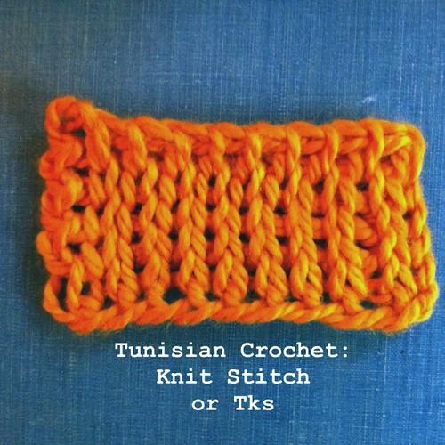 Tunisian Crochet: Knit Stitch Elizabeth Rogers Drouillard Flickr