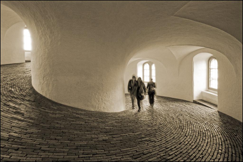 Denmark Copenhagen Round Tower Spiral Sepia Tomorrow