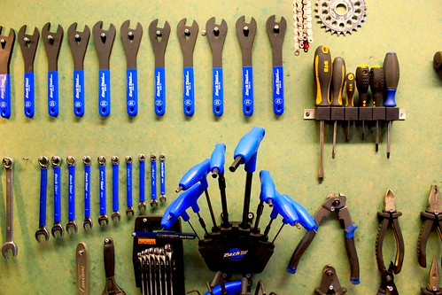 Bicycle workshop tools | by londoncyclist