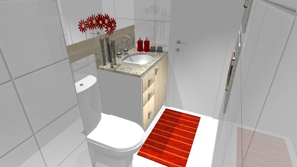 Pequeno Banheiro Social 2  Projeto de um pequeno banheiro n…  Flickr -> Projeto De Banheiro Muito Pequeno