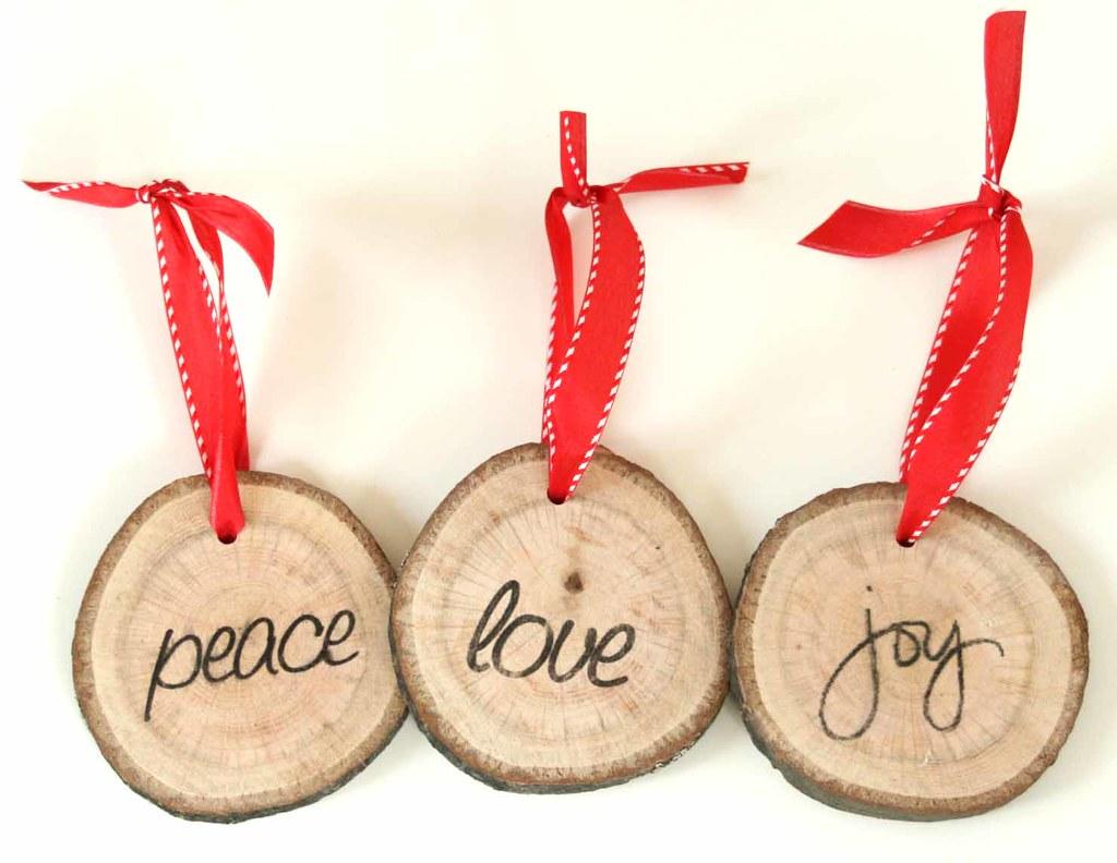unique christmas ornament peace love and joy peace love. Black Bedroom Furniture Sets. Home Design Ideas