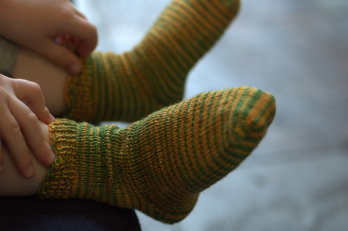 caterpillar toddler socks 3 | by knitfaced