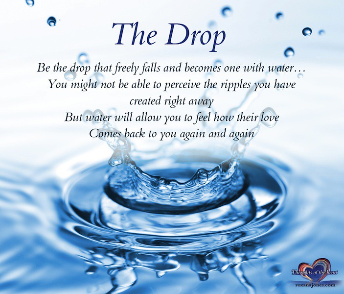 Quotes About Water: Inspirational Quote: The Drop