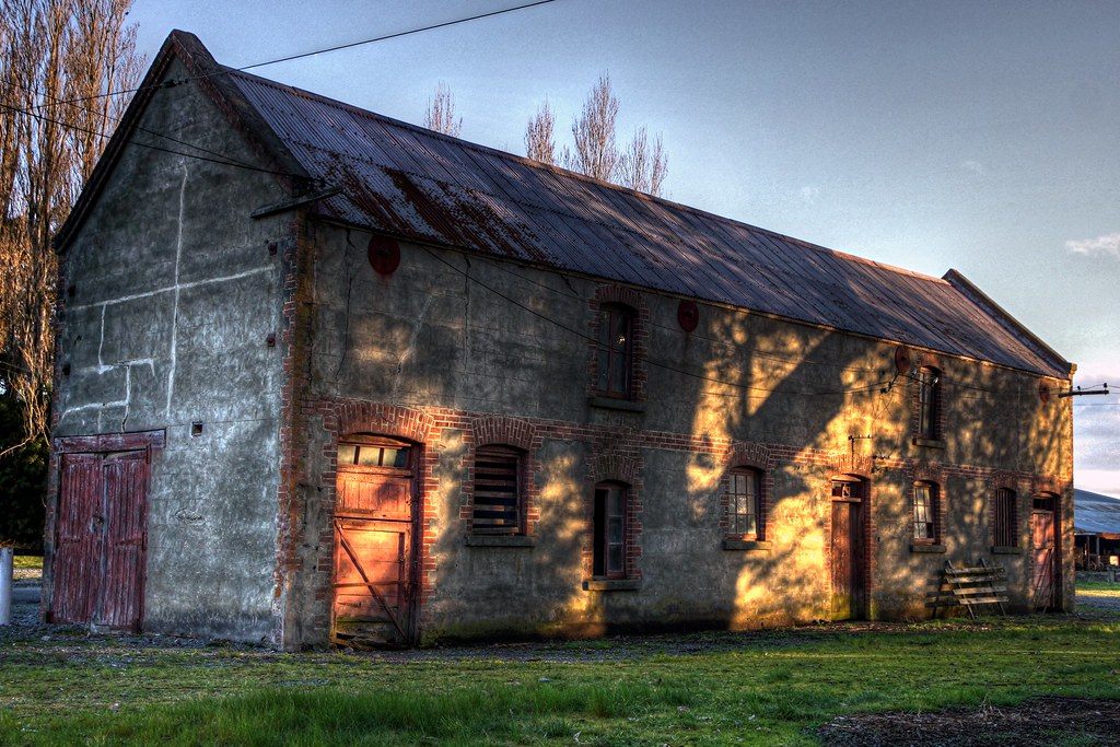 Old Building Longbeach Canterbury New Zealand The